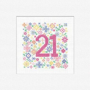 `21` Occassions  Cross Stitch Card Kit
